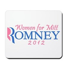 Women for Mitt Romney 2012 Pink Mousepad