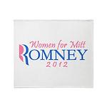 Women for Mitt Romney 2012 Pink Throw Blanket