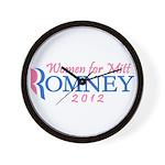 Women for Mitt Romney 2012 Pink Wall Clock