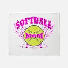 Softball mom Throw Blanket