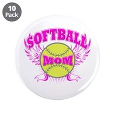 "Softball mom 3.5"" Button (10 pack)"