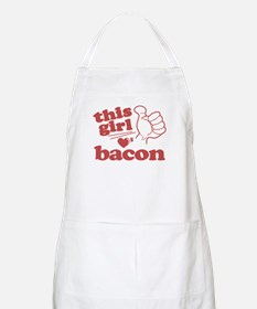 Girl Loves Bacon Apron