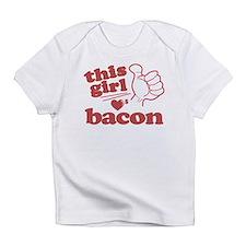 Girl Loves Bacon Infant T-Shirt