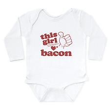 Girl Loves Bacon Long Sleeve Infant Bodysuit