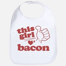 Girl Loves Bacon Bib