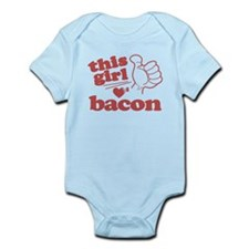 Girl Loves Bacon Infant Bodysuit