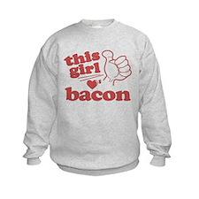 Girl Loves Bacon Sweatshirt