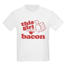 Girl Loves Bacon T-Shirt