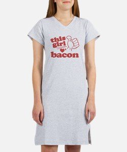 Girl Loves Bacon Women's Nightshirt