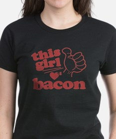 Girl Loves Bacon Tee