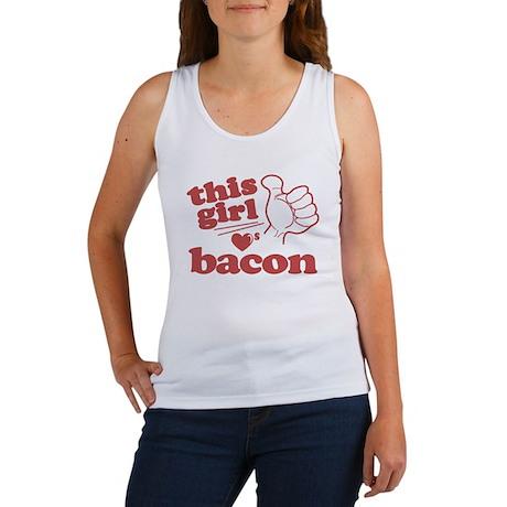 Girl Loves Bacon Women's Tank Top