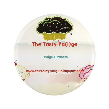 "tasty paige postcard 3.5"" Button (100 pack)"