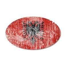 Albania Flag 38.5 x 24.5 Oval Wall Peel