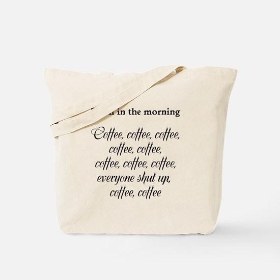 Poem in the morning Tote Bag