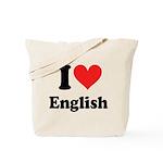 I Love English Tote Bag
