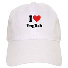 I Love English Baseball Cap