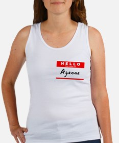 Ayanna, Name Tag Sticker Women's Tank Top