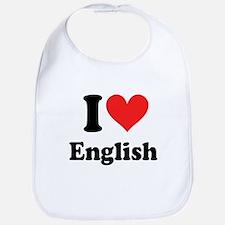 I Love English Bib