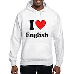 I Love English Hooded Sweatshirt