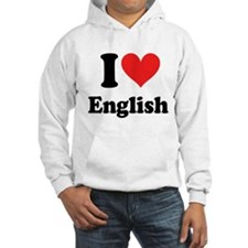 I Love English Hoodie