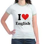 I Love English Jr. Ringer T-Shirt