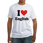 I Love English Fitted T-Shirt