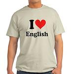 I Love English Light T-Shirt