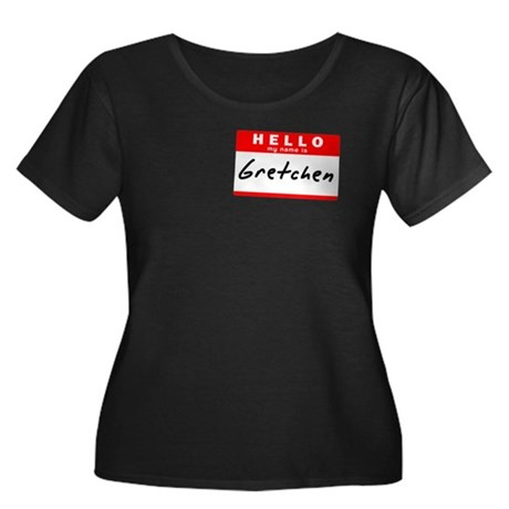Gretchen, Name Tag Sticker Women's Plus Size Scoop