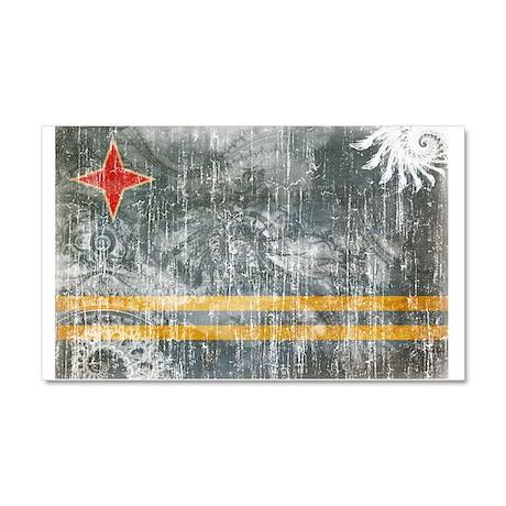 Aruba Flag Car Magnet 20 x 12