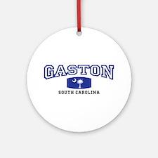 Gaston South Carolina, SC, Palmetto State Flag Orn