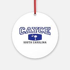 Cayce South Carolina, SC, Palmetto State Flag Orna
