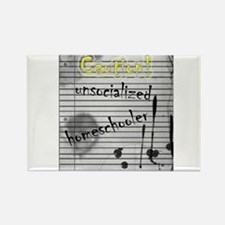 Unsocialized Homeschooler Rectangle Magnet