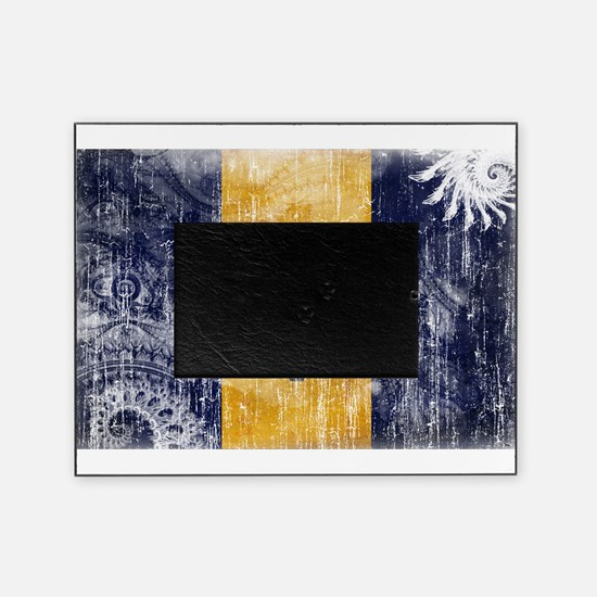 Barbados Flag Picture Frame