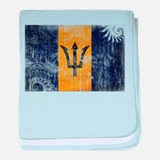Barbados Flag baby blanket