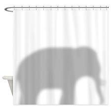 Elephant silhouette Shower Curtain