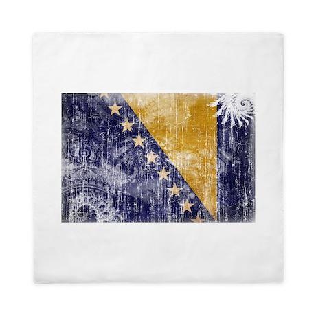Bosnia and Herzegovina Flag Queen Duvet