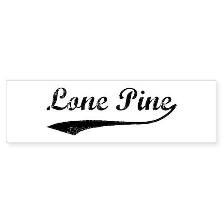 Lone Pine - Vintage Bumper Sticker