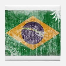 Brazil Flag Tile Coaster