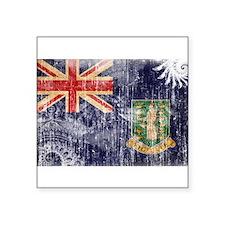 "British Virgin Islands Flag Square Sticker 3"" x 3"""