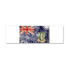 British Virgin Islands Flag Car Magnet 10 x 3