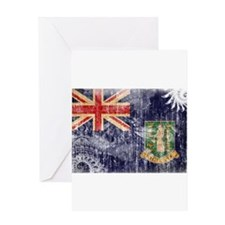 British Virgin Islands Flag Greeting Card