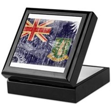 British Virgin Islands Flag Keepsake Box