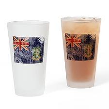 British Virgin Islands Flag Drinking Glass
