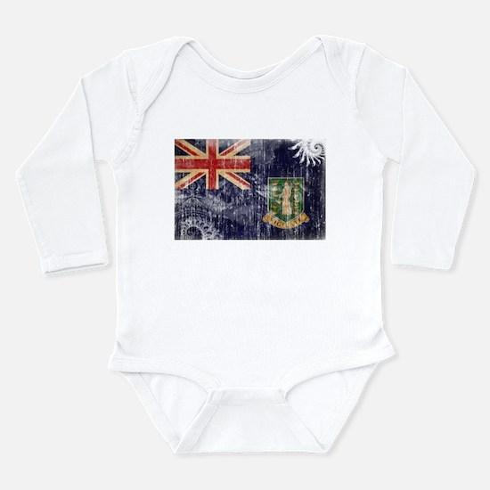 British Virgin Islands Flag Long Sleeve Infant Bod
