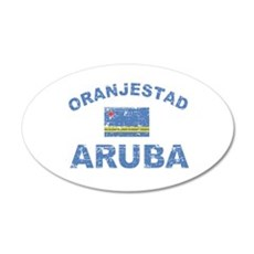 Oranjestad Aruba designs 22x14 Oval Wall Peel