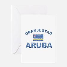Oranjestad Aruba designs Greeting Card