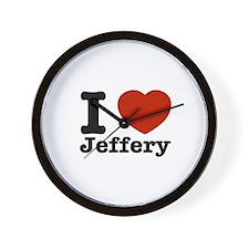 I love Jeffery Wall Clock