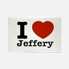 I love Jeffery Rectangle Magnet