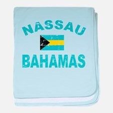 Nassau Bahamas designs baby blanket