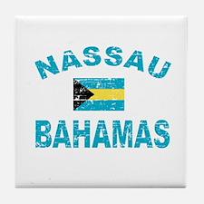 Nassau Bahamas designs Tile Coaster